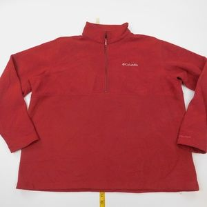 Columbia 2XL  Red 1/4 Zip Fleece Pullover